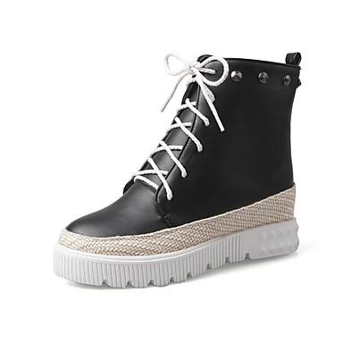 Automne Polyuréthane Blanc hiver Noir Bottes Argent Chaussures Femme 06850306 Plat Talon Confort qpC5w8E
