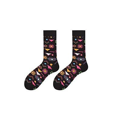 abordables Accessoires pour Chaussures-1 paire Homme Chaussettes Standard Imprimé Des sports Style Simple Coton EU36-EU42