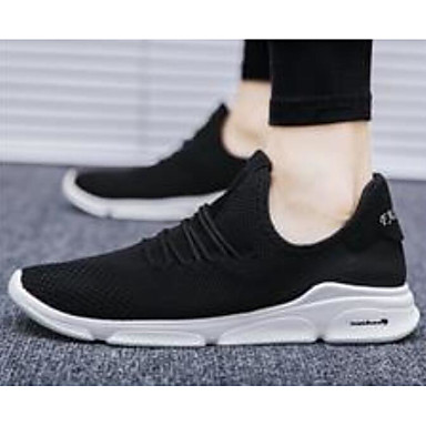 Men's Comfort Shoes Fall Mesh Spring &  Fall Shoes Athletic Shoes Walking Shoes White / Black / Black / Green a62e03