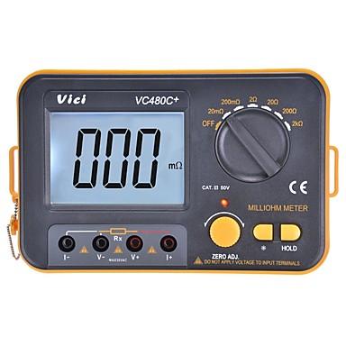 voordelige Test-, meet- & inspectieapparatuur-vichy vici vc480c + digitale multimeter multimetro diagnostisch gereedschapstester 3 1/2 milli-ohm backlit meter met 4-draads test