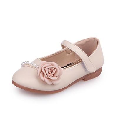 זול תינוק & ילדים-בנות PU שטוחות פעוט (9m-4ys) / ילדים קטנים (4-7) נעליים לילדת הפרחים פרח בז' / ורוד / כחול בהיר קיץ & אביב