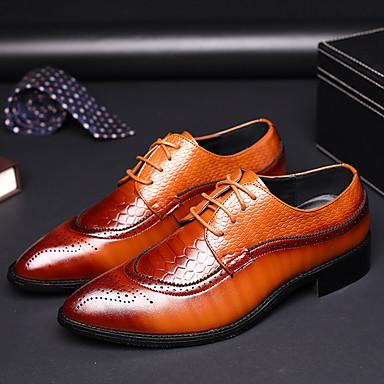 Men's Bullock Shoes PU(Polyurethane) Spring / / Summer Business Oxfords Black / / Yellow / Red 363ec5
