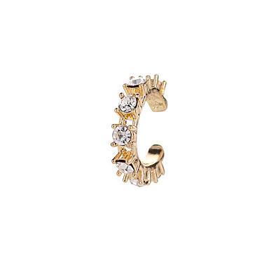 billige Moteøreringer-Dame Syntetisk Diamant Store Øreringer Elegant Kreativ damer Enkel Unikt design Strass øredobber Smykker Gull / Sølv Til Daglig Ferie 1pc