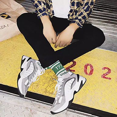 Homme Chaussures Chaussures Chaussures de confort Polyuréthane Automne Sportif Chaussures d'Athlétisme Course à Pied Preuve de l'usure Noir / Gris | Dans Un Style élégant  30f7f2