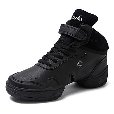 Candido Per Donna Sneakers Da Danza Moderna Pelle Di Maiale Sneaker A Fantasia Piatto Personalizzabile Scarpe Da Ballo Nero #06938822