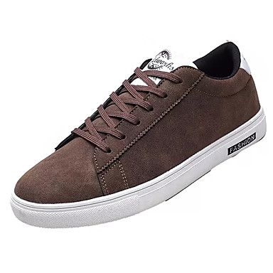 Men's Light Soles PU(Polyurethane) Fall Casual Sneakers Breathable Brown Black / Gray / Brown Breathable fdf278