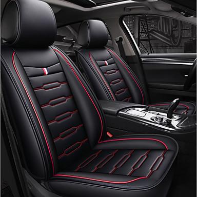 e165931c7755c ODEER أغطية مقاعد السيارات أغطية المقاعد أسود-أحمر منسوجات   تقليد الجلد  عادي من أجل عالمي كل السنوات جميع الموديلات