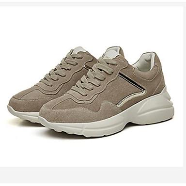 Femme Chaussures de confort confort confort Daim / Cuir Printemps Basket Talon Bas Bout carré Blanc / Rose / Amande e45a43