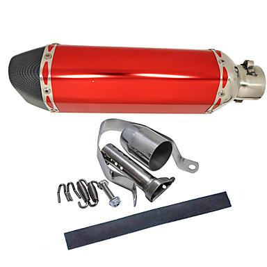 36-51 ملليمتر دراجة نارية ألياف الكربون الذيل العادم كاتم للصوت الأنابيب القابلة للإزالة كاتم الصوت