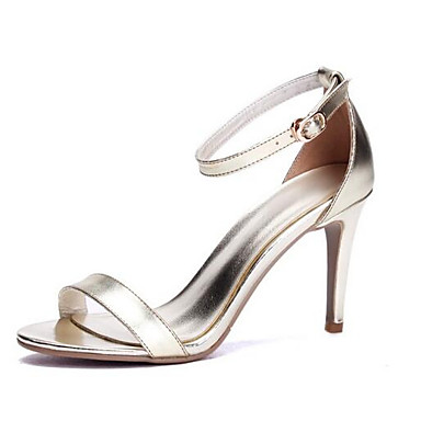 Women's Comfort Shoes Nappa Leather Spring Sandals Stiletto Stiletto Sandals Heel Gold / White / Black 442c92