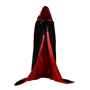 Witch Vampire Coat Cosplay Costume Party Costume Costume Christmas Dress Unisex Adults Adults' Cover Up Halloween Christmas Halloween Carnival Festival / Holiday Satin Velvet Outfits Green / Blue