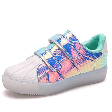 e593efc26e4 Drenge / Pige Sko PU Forår / Efterår Lysende Sko Sneakers Gang LED for Børn  Sort / Blå / Lys pink