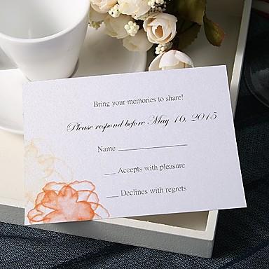 Stan kartica Vjenčanje Pozivnice 20 - Response card Moderna Pearl papira