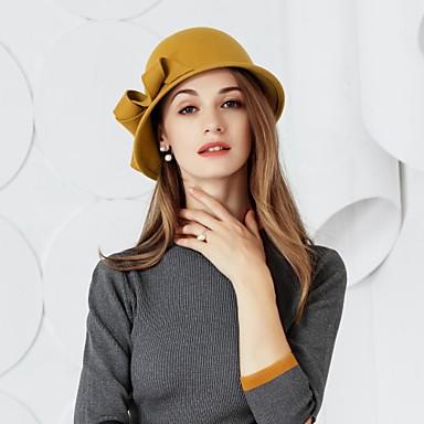 100% Lana Kentucky Derby Hat - Cappelli Con Fiocco 1pc Casual - Da Tutti I Giorni Copricapo #06955192