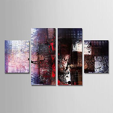 Hang oslikana uljanim bojama Ručno oslikana - Sažetak Moderna Uključi Unutarnji okvir / Četiri plohe / Prošireni platno