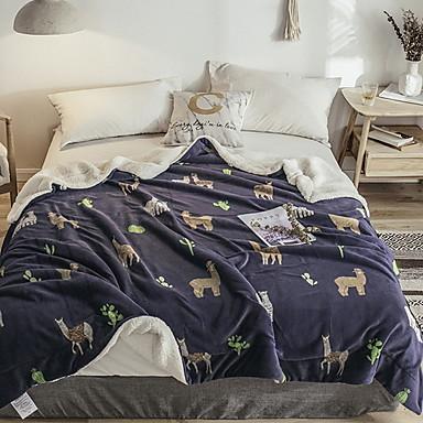 povoljno Deke i prekrivači-Posteljina deke, Geometrijski oblici Pamuk / poliester zgusnuti pokrivači