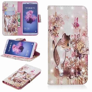 Θήκη Za Huawei Huawei P20 / Huawei P20 Pro / Huawei P20 lite Novčanik / Utor za kartice / sa stalkom Korice Mačka Tvrdo PU koža / P10 Lite