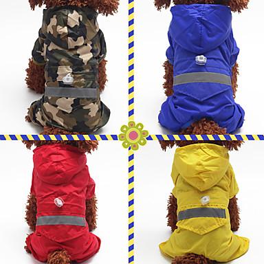 Perros Gatos Mascotas Impermeable Decoración Ropa para Perro Un Color Color Camuflaje Rojo Azul camuflaje de color Fibra de acrílico Disfraz Para Dálmata Spitz Japonés Beagle Todas las Temporadas