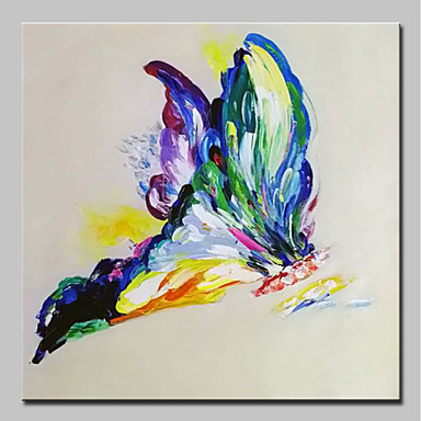 9146205a1a Oil Painting Hand Painted - Abstract / Pop Art Modern Canvas 6980729 ...