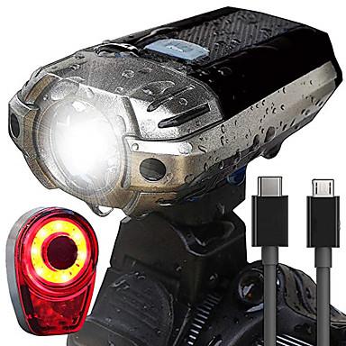 LED Svjetla za bicikle Set svjetala za bicikl s mogućnošću punjenja Stražnje svjetlo za bicikl sigurnosna svjetla Brdski biciklizam Bicikl Biciklizam Vodootporno Super Bright Prijenosno Jednostavno