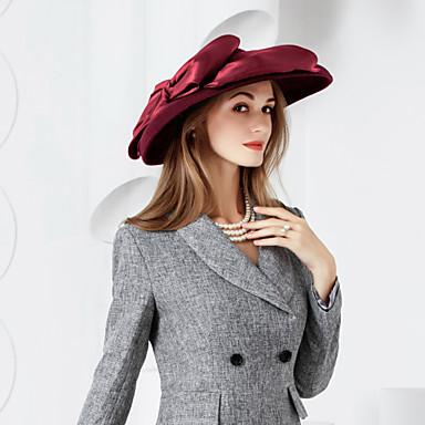 billige Hodeplagg til fest-ull silke hatter headpiece bryllupsfesten elegant klassisk feminin stil