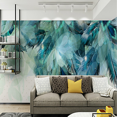 cheap Wall Art-Wallpaper / Mural Canvas Wall Covering - Adhesive required Art Deco / Pattern
