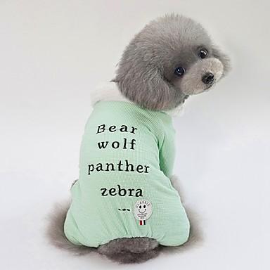 Psi Kaputi Odjeća za psa Lik Slogan Zelen Plava Pink Terilen Kostim Za Buldog Shiba Inu Mops (Pug) Jesen Zima Uniseks Sweet Style Grijači