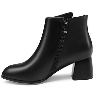 2019 Nuovo Stile Per Donna Fashion Boots Nappa Autunno Stivaletti Quadrato Punta Chiusa Stivaletti - Tronchetti Nero #06958527