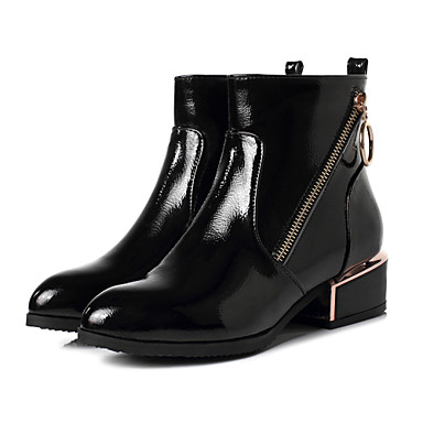 4fede7755153 Women s PU(Polyurethane) Fall   Winter Casual Boots Low Heel Round Toe  Booties
