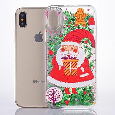 Θήκη Za Apple iPhone X Šljokice Stražnja maska Božić Tvrdo plastika
