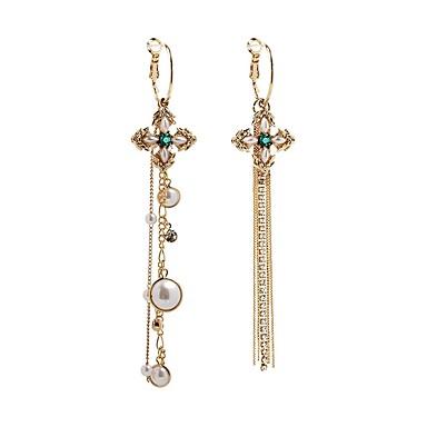 Žene Nesparene naušnice Long Kereszt dame Stilski Klasik Imitacija bisera Naušnice Jewelry Zlato Za Dnevno 1 par