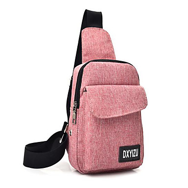 b39e450dfac6 Муж. Мешки Полиэстер Слинг сумки на ремне Сплошной цвет Красный / Лиловый /  Светло-серый