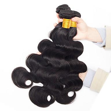 3 paketa Brazilska kosa Tijelo Wave Remy kosa Netretirana  ljudske kose Ljudske kose plete Styling kose Produžetak 8-28 inch Prirodna boja Isprepliće ljudske kose Nježno Novi Dolazak Moda Proširenja