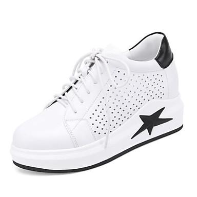 e48fb454113 Γυναικεία Νάπα Leather Άνοιξη Αθλητικά Παπούτσια Επίπεδο Τακούνι Μαύρο /  Κόκκινο