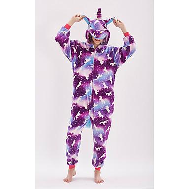 Adulto Pijamas Kigurumi Unicorn Animé Pijamas de una pieza fibra de  poliéster Morado Cosplay por Hombre y mujer Ropa de Noche de los Animales  Dibujos ... 7aa2ee0ba47