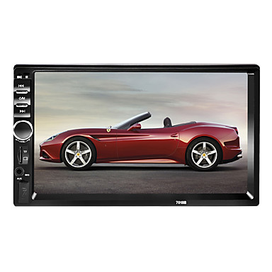 cheap Car DVD Players-7018 7 inch 2 DIN Windows CE 6.0 In-Dash Bluetooth Car DVD Player for Universal Support AVI / MPG / PMP MP3 / WMA / WAV / TF Card / Car MP4 Player / Car MP5 Player