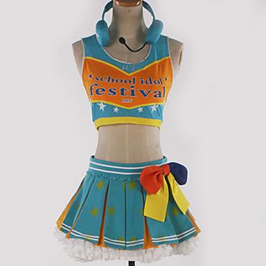 Inspirirana Ljubav uživo Cosplay Anime Cosplay nošnje Japanski Cosplay Suits Uzorak / Color block Top / Suknja / Rukavice Za Muškarci / Žene