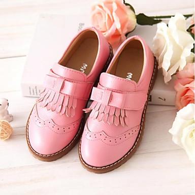 Djevojčice Udobne cipele / Obuća za male djeveruše Koža Sneakers Dijete (9m-4ys) / Mala djeca (4-7s) / Velika djeca (7 godina +) S resicama Crn / Crvena / Pink Proljeće & Jesen / Guma