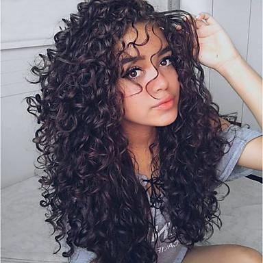 baratos Extensões de Cabelo Natural-3 pacotes Cabelo Indiano Ondulado Onda de Água 8A Não processado Cabelo Natural Cabelo Humano Ondulado Cuidados com Cabelo Extensor 8-28 polegada Preta Côr Natural Tramas de cabelo humano Extensões