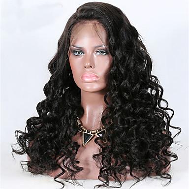 Remy kosa 13x6 Zatvaranje Lace Front Perika Duboko udaljavanje stil Brazilska kosa Wavy Natural Perika 150% 180% Gustoća kose Prilagodljiv Otporan na toplinu Najbolja kvaliteta Gust s isječkom Žene