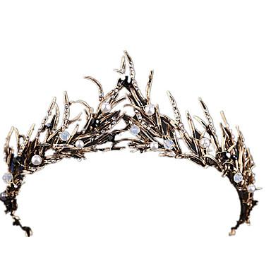 Cisne negro Vintage Elegante Disfraz Mujer Corona Baile de Máscaras Tiaras Blanco / Dorado Cosecha Cosplay