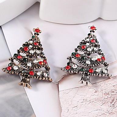 Žene Broševi Božićno drvce dame Stilski Klasik Umjetno drago kamenje Broš Jewelry Zlato Pink Za Božić