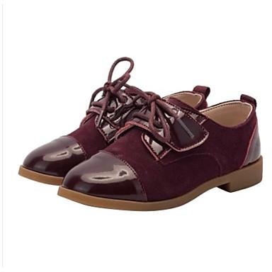 Djevojčice Udobne cipele Koža Sneakers Dijete (9m-4ys) / Mala djeca (4-7s) / Velika djeca (7 godina +) Vezanje Crn / Lila-roza Proljeće & Jesen / Guma