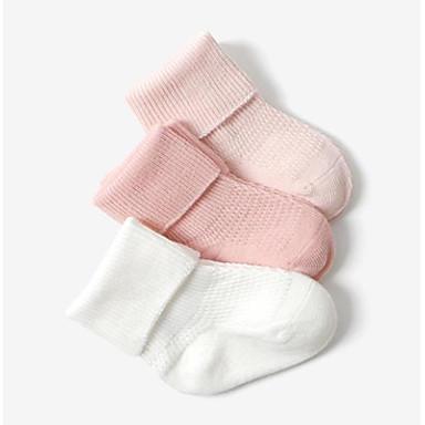 3 para Dječaci / Djevojčice Čarape Standard Jednobojni Calm Simple Style Pamuk 0-6 mjeseci / 7-12 mjeseci / 1-3 godina