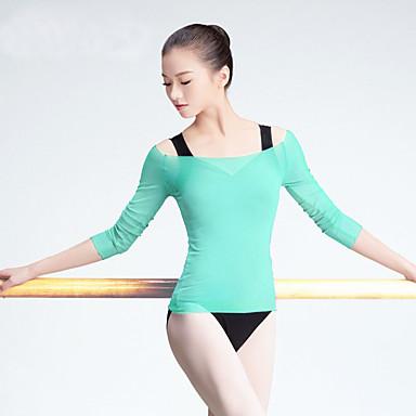 Ballett Oberteile Damen Training / Leistung Tüll Horizontal gerüscht 3/4 Ärmel Mantel