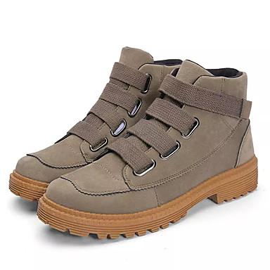 Men's Combat Boots PU(Polyurethane) Fall Casual Boots Breathable Mid-Calf Boots Black / Khaki