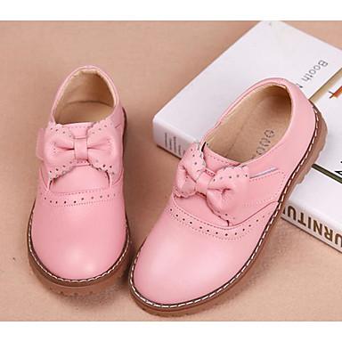 a8067c5b1f5 Chica Zapatos Cuero Primavera   Otoño Zapatos para niña florista Zapatos de  taco bajo y Slip-On Pajarita para Niños Negro   Rojo   Rosa