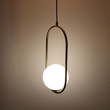 Cirkularno / Mini Privjesak Svjetla Ambient Light Antique Brass Electroplated Metal Glass Zaštita očiju 110-120V / 220-240V