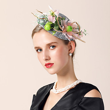 Lan / Baršunasto kape s Umjetni biser / Cvjetni print 1 komad Vjenčanje / Zabava / večer Glava