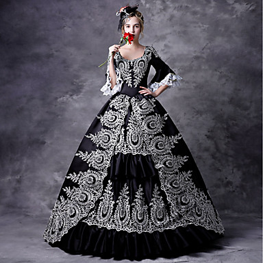 4ff6a31937b7c Fairytale Gothic Medieval Costume Women's Dress Outfits Party Costume  Masquerade Black Vintage Cosplay Party Prom 3
